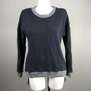 Theory Corbit b Blue Gray Side Zip Sweater L
